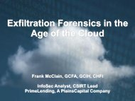 Exfiltration Forensics in the Age of the Cloud - SANS Computer ...