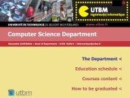 Computer Science Department presentation - Utbm