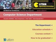 Computer Science Department presentation - Utbm