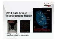 Verizon Data Breach - SANS Computer Forensics