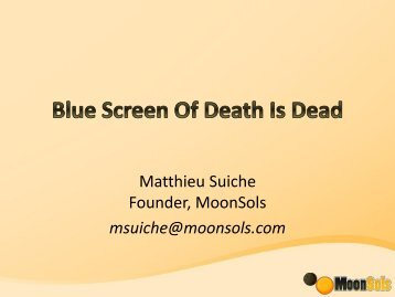 Blue Screen of Death is Dead - SANS Computer Forensics