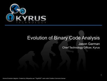 Evolution of Binary Code Analysis.pdf - SANS