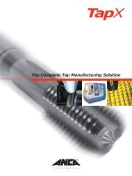 The Complete Tap Manufacturing Solution - Anca