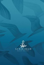 La brochure commerciale - sindibad beach resort
