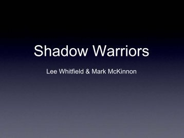 Shadow Warriors - SANS Computer Forensics