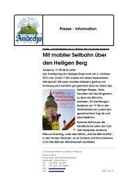 Kloster Andechs Presse-Information Andechser kinder ...