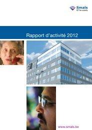 Rapport d'activité 2012 - Smals