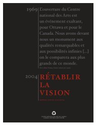 Rapport annuel 2003-2004 du CNA - National Arts Centre