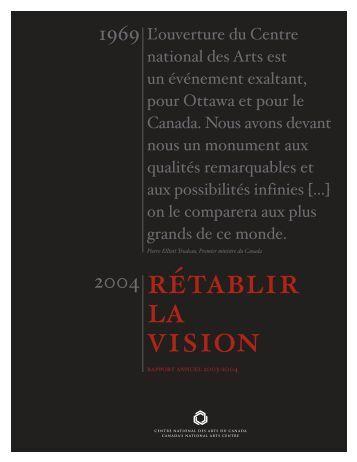 Rapport annuel 2003-2004 du CNA - National Arts Centre
