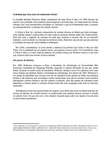 China In Box - Empreendedorismo – Prof. José Dornelas