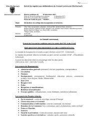 Déclaration du collège des bourgmestre et échevins - Echternach