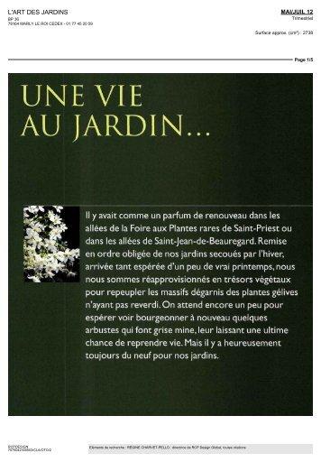L'Art des jardins - Une vie au jardin... - Château de Valmer