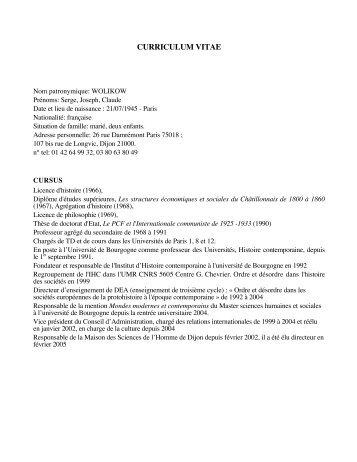 Nom patronymique: WOLIKOW - Centre Georges Chevrier ...