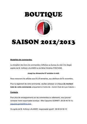 Téléchargez le catalogue - Aviron Club Lyon Caluire