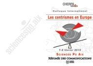 RÉSUMÉS dES cOMMUNicAtiONS - Sciences Po Aix