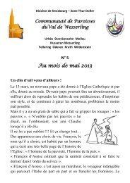 ValWess1305 - Paroisses Thur