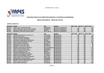 Resultado Parcial _ Títulos Página 1 CONCURSO ... - Fapes