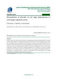 Determination of allowable use for Stipa hohenackerian in semi-steppe rangelands of Iran