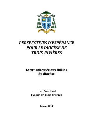 lettre pastorale - Mgr Luc Bouchard