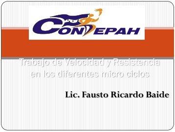 Trabajo de Velocidad y Resistencia en los diferentes[1 ... - Condepah