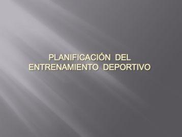 PLANIFICACIÓN DEL ENTRENAMIENTO DEPORTIVO ... - Condepah
