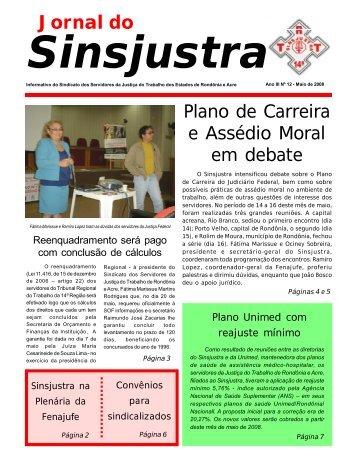 Ano III - Nº 12 - Maio/2008 - Sindicato dos Servidores da Justiça do ...