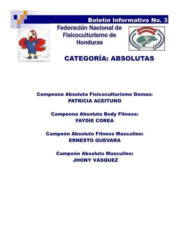 BOLETIN INFORMATIVO No.3 (FISICOCULTURISMO).pdf - Condepah