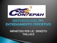 METODOLOGIA DEL ENTRENAMIENTO DEPORTIVO - Condepah
