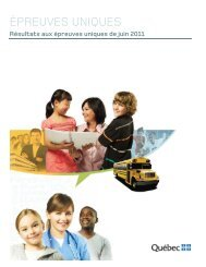 Résultats aux épreuves uniques de juin 2011 - Ministère de l ...