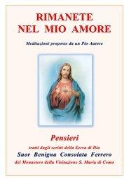 Il Sacro Cuore di Gesù a suor Benigna ... - La Nuova Chiesa