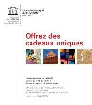 Offrez des cadeaux uniques - Unesco