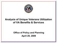 Analysis of Unique Veterans Utilization of VA Benefits & Services