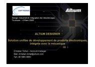 ALTIUM DESIGNER Solution unifiée de développement de produits ...