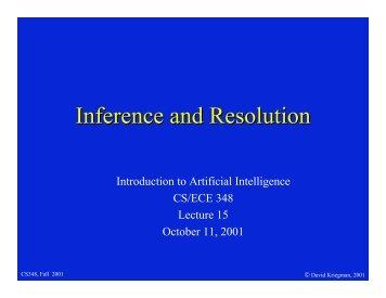David Kriegman's slides on Resolution...
