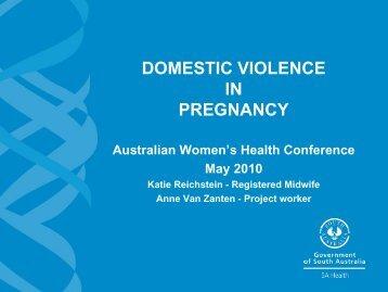 domestic violence in pregnancy - Australian Women's Health ...