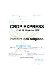 Lire la suite… - CRDP de l'Académie de Strasbourg