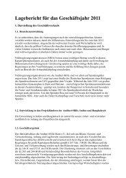 Lagebericht für das Geschäftsjahr 2011 - Andheri-Hilfe Bonn