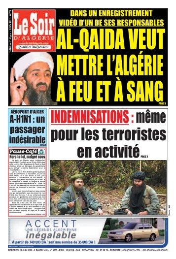 PAGE 01 - Le Soir d'Algérie