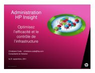 Administration HP Insight