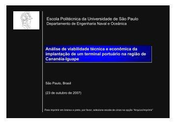 VIABILIDADE TÉCNICA E ECONÔMICA DE UM COMPLEXO ...