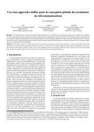 Vers une approche unifiée pour la conception globale des ...