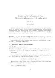 Le théorème de représentation de Riesz dans un ... - Normalesup.org