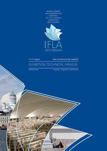 Exhibition Technical Manual [PDF] - IFLA Annual Conference