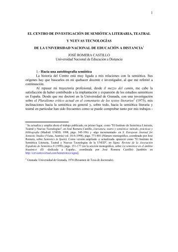 El Centro de Investigación de Semiótica Literaria, Teatral y Nuevas ...