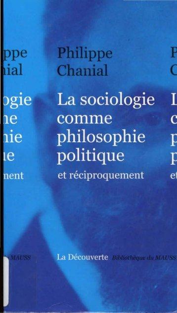 Chapitre 1 & 2 : La sociologie politique comme trace - Chaire MCD