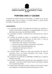 Portaria CRN-3 nº 0224/2009 - Conselho Regional de Nutricionistas