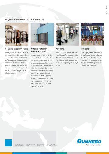 La gamme des solutions Contrôle d'accès - Gunnebo
