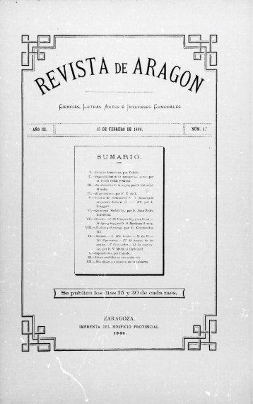 Revista de Aragón, año III, 1.ª época, número 3 - Institución ...