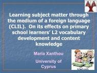 (CLIL). - conferences.ncl.ac.uk; ; Newcastle University