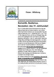 Pressemeldung Kloster Andechs Tag des offenen Denkmals 11 09 ...